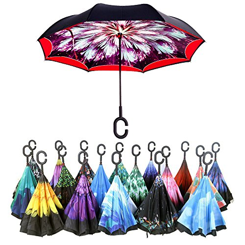 Reverse Folding Inverted Umbrella Carrying
