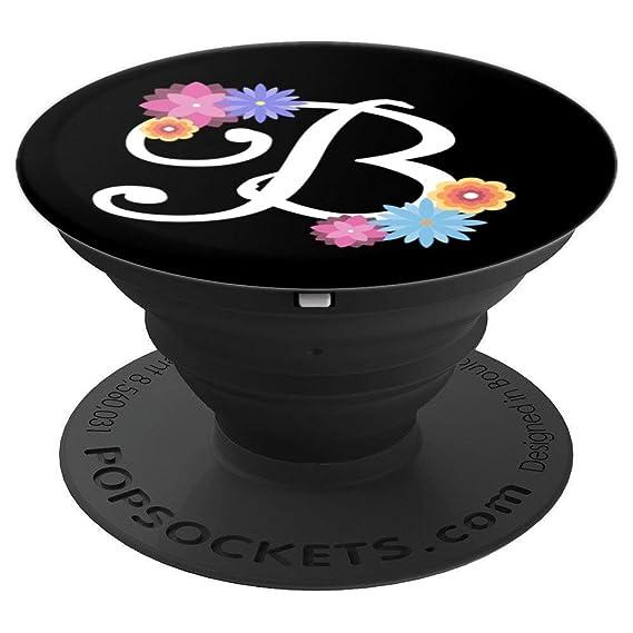 Amazoncom Initial Letter B Monogram Floral Design Popsockets