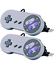 Quimat 2 x Manette de Jeu Snes USB Gamepad Retro Super Nintendo Snes Classique USB Jeu Vidéo Joypad Gamepad Windows PC / Mac / Raspberry Pi