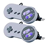 Cheap Quimat 2 Pack SNES Retro USB Super Nintendo Gaming Controllers Gamepads Joysticks for Windows PC/MAC AC440