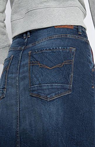 Denim Stretch Blue Wash 9713 Blu Skirt Dark Donna His Gonna premium RgFSqSw