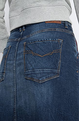 Stretch premium Blu Wash His Donna Denim Gonna Blue 9713 Dark Skirt UwU17gq