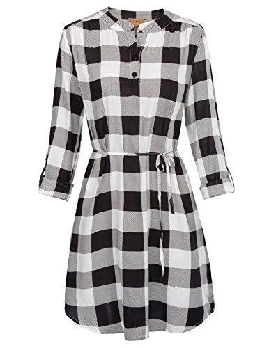 Sleeve Belted Shirt Dress - 9