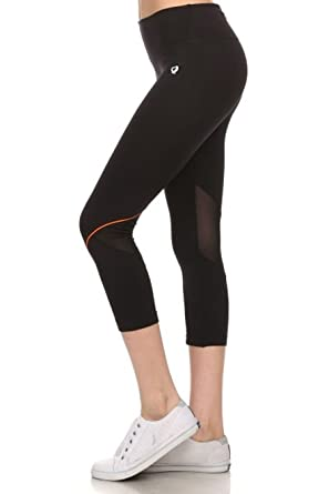 bb45e2047c4661 Gzero Women's Tights Mesh Panels Stretchy Active Yoga Fitness Leggings
