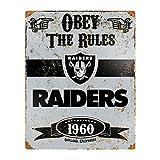 Party Animal NFL Embossed Metal Vintage Oakland