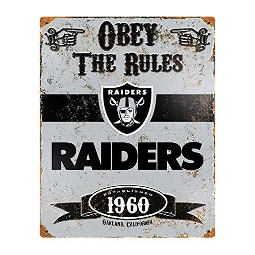 Party Animal NFL Embossed Metal Vintage Oakland Raiders -