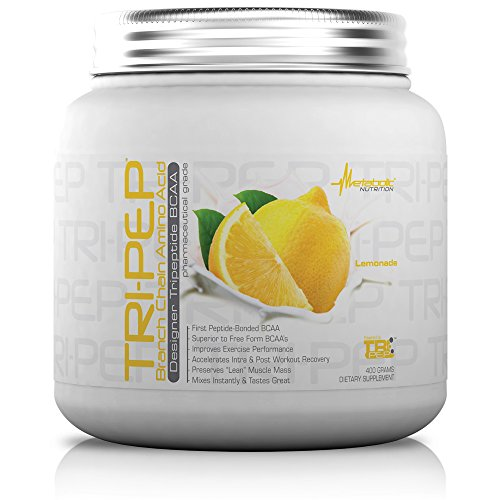 Metabolic Nutrition, TRIPEP, 100% Tri-Peptide Branch Chain Amino Acid, BCAA Powder, Pre Intra Post Workout Supplement, Lemonade, 400 grams (40 servings)