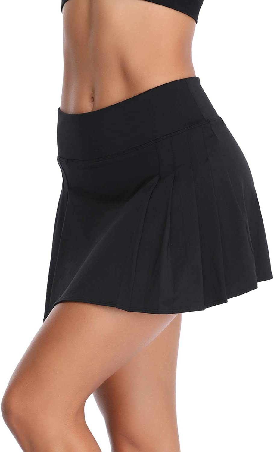 RainbowTree Women's Golf Skirt Tennis Skort Pleated with Side Inner Pockets Indoor Exercise: Clothing