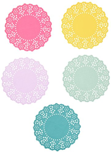 Talking Tables Tea Party Floral Paper Doilies Small | Truly Scrumptious | Assorted Colors, 100 Pack