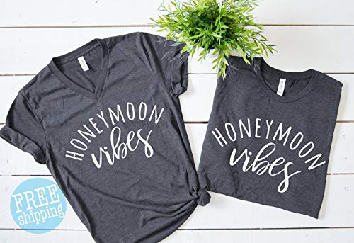 Honeymoon Vibes, Honeymoon Shirts, Honeymoon Vibes Shirt, Wife Hubby, Hubby Wife, Mr and Mrs shirts, Wedding gifts.