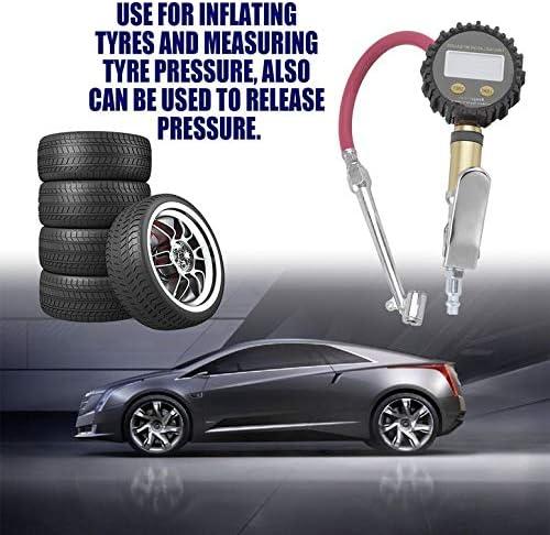 Lynn025Keats Digital Air Tire Inflator with LCD Display Hand Held Tire Pressure Gauge Meter