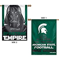 """NCAA Michigan State University 15844215 2 Sided Vertical Flag, 28"""" x 40"""""""