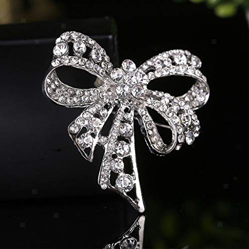Brooches Pin Women Bridal Glittery Crystal Corsage Lapel Collar Pin (Style - -