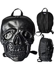 Unisex Kreepsville Skull Backpack Black