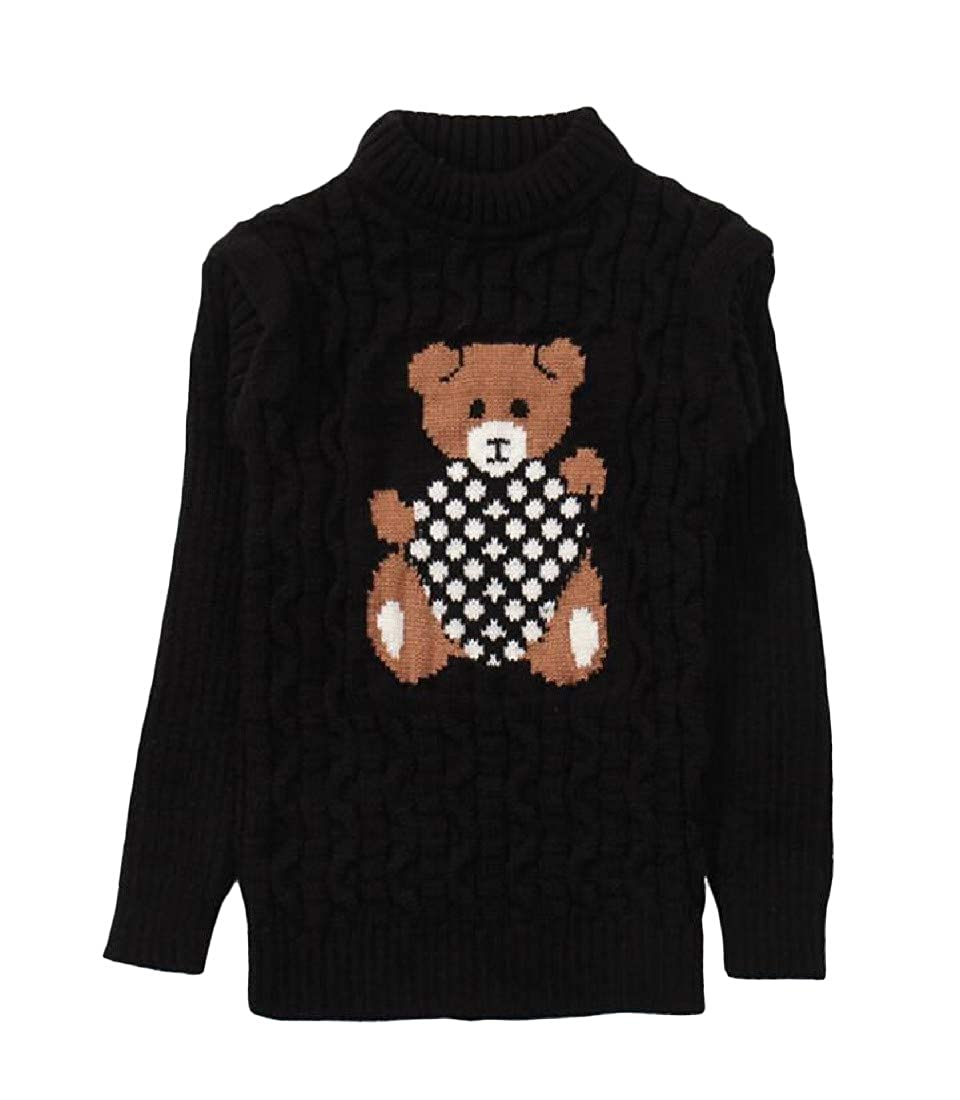 Cromoncent Girl Slim Fit Pullover Knitted Jumper Cute Thick Sweaters