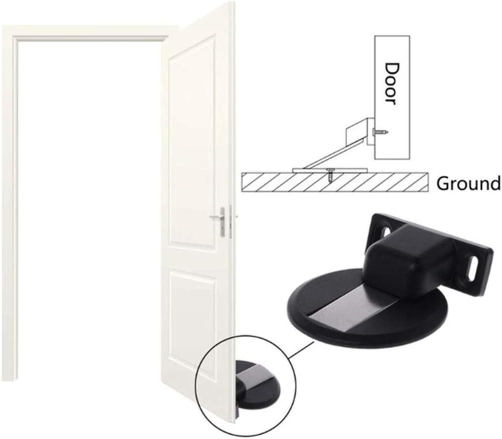 Invisible Magnetic Door Stopper Floor Mount Magnets Door Holder Wall Protector with Screw Mount E Office Magnetic Door Stop Catch Holder Heavy Duty No Drilling Zinc Alloy Doorstop for Home