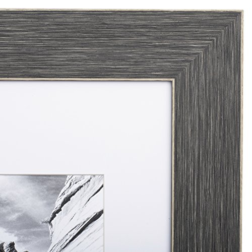 8x10 Picture Frame Barnwood Grey - Matted to 5x7, Frames by
