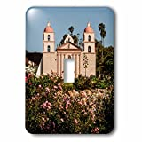 3dRose LSP_229834_1 USA California, Santa Barbara, Mission and Rose Garden Toggle Switch, Mixed