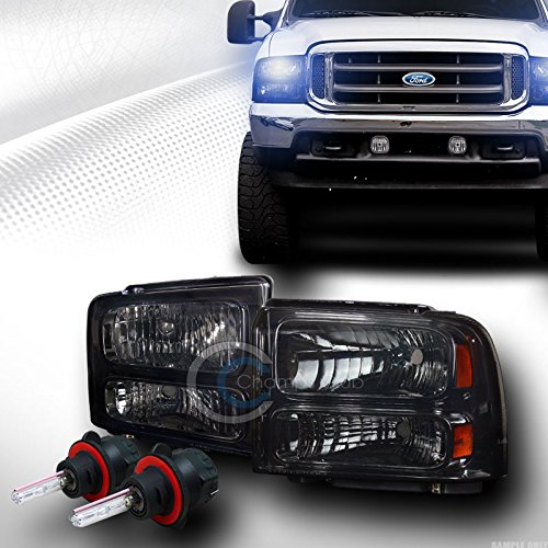 AutobotUSA 8000K HID BI-XENON W/SMOKE HEAD LIGHTS SIGNAL AM 05-07 FORD F250/F350/EXCURSION