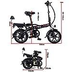 Drohneks-Bicicletta-elettrica-Pieghevole-14-Pollici-Mini-Cool-Cycling-8A-E-Bike-Doppia-Batteria-al-Litio-con-Freno-a-Disco-Doppia-Bici-elettrica