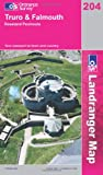 Front cover for the book Landranger Map 204: Truro & Falmouth, Roseland Peninsula by Ordnance Survey