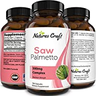 Pure Saw Palmetto Extract - Hair Loss + Testosterone Benefits - Highest grade Berries Powder - Food-Grade Capsules (For Real Absorption) - USA Made by Natures Craft