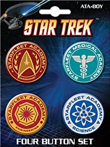 Ata-Boy Star Trek Starfleet Academy Insignias 4 Button Set
