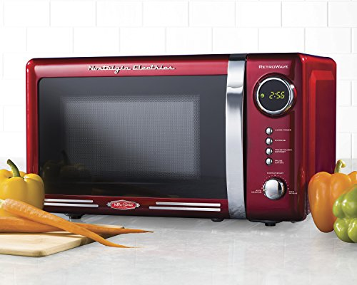 Nostalgia RMO770RED Retro 0.7 Cubic Foot Microwave Oven - smallkitchenideas.us