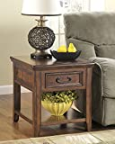 Woodboro Dark Brown Color Rectangular End Table For Sale