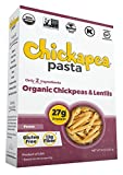 Chickapea Organic Chickpea and Red Lentil Pasta - Gluten-Free, Vegan, Protein Packed Penne - 8 oz Each (Pack of 6)