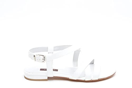 L amour sandali bassi in vernice bianco, 33