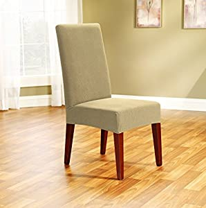sure fit stretch pique shorty dining room chair slipcover