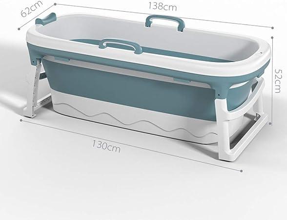 Baignoire Pliante Adulte 140 Cm Baignoire Pliable Baignoire Amovible Avec Coussin De Bain Blue Bricolage Cuisines Et Salles De Bain