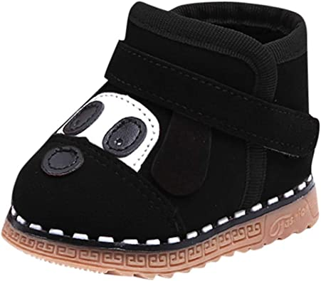 FORESTIME Baby Girls Boy Double Velour Soft Sole Shoe Soft Shoes Flats Shoes