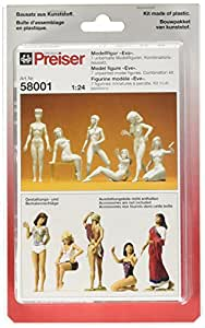 NUDE EVE FIGURES - PREISER G 1/24 SCALE MODEL TRAIN FIGURES 58001