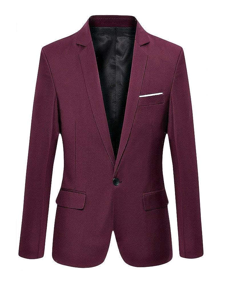 Men's Autumn Suit Blazer Suit Jacket Wedding Retro 1 Sleeve Long Tuxedo Button Slim Fit Coat Blazer Party Elegant Nner Suit Cocktail Suit Jacket None