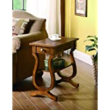 Coaster Transitional Cherry Rectangular Accent Table