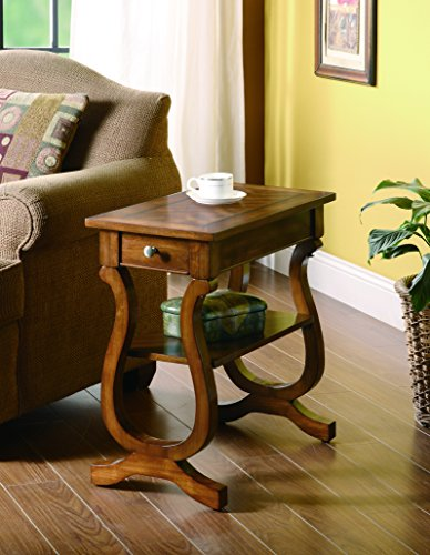 - Coaster Home Furnishings Rectangular Chairside Table with Drawer Cherry