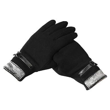 HANDSCHUHE Fäustlinge Strickhandschuhe mit Innenplüsch warme Fausthandschuhe