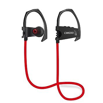 CIMOXI - Auriculares inalámbricos, Bluetooth 4.1, con 8 horas de reproducción, micrófono integrado