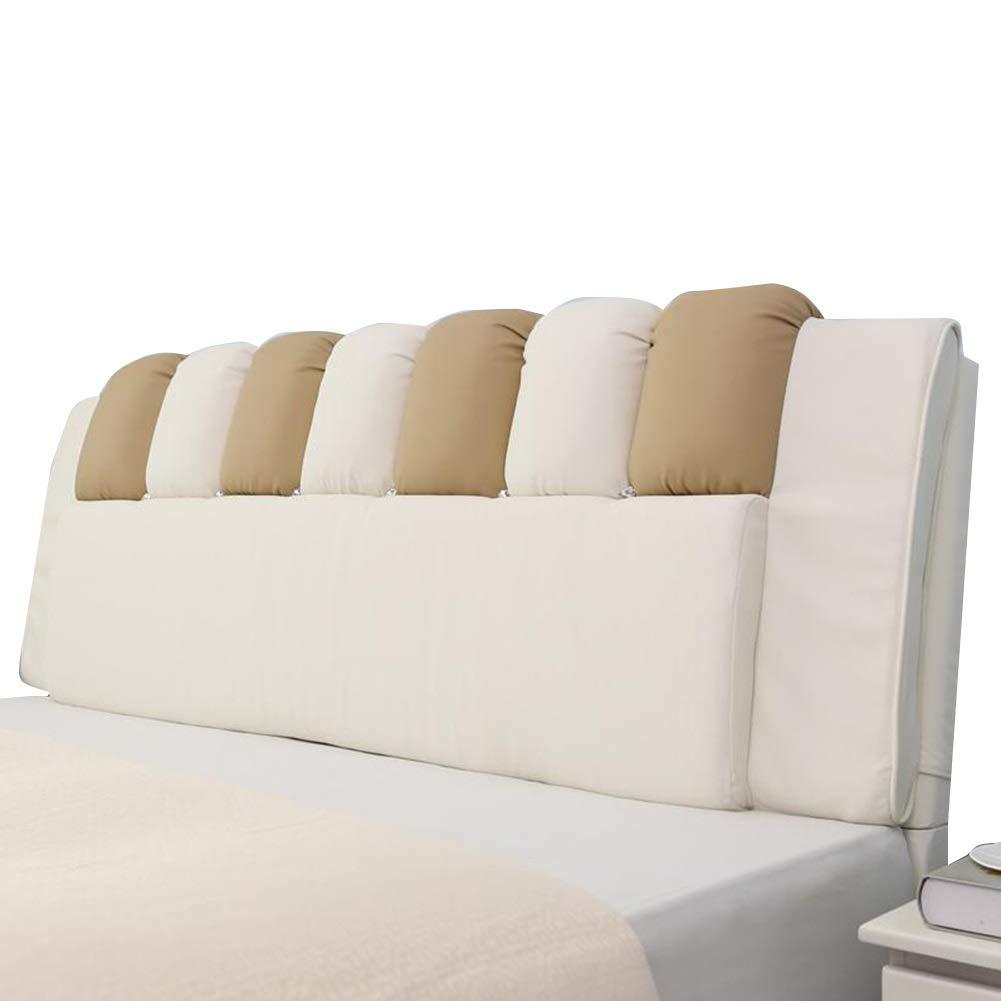 LIANGLIANG クションベッドの背もたれ ダブルエクストララージ ウエストパッド ポジショニング家具環境を守ること PU 、4色 (色 : イエロー いえろ゜, サイズ さいず : 160x60x6cm) 160x60x6cm イエロー いえろ゜ B07PCR2T6Q