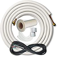 23 Foot 3/8 x 5/8 Line Set for Ductless Mini Split Systems with Mini Split Color Coded Stranded Control Cable