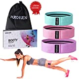 Hurdilen Resistance Bands Loop Exercise Bands Booty Bands - Workout Bands Hip Bands Wide Resistance Bands Hip Resistance Band for Legs and Butt - Activate Glutes and Thighs (Pink,Green,Purple)