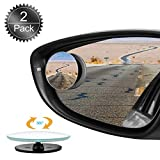 Oumers Blind Spot Mirrors for Cars, 2Pack 360??HD Glass Rotatable Waterproof Frameless Convex Rear View Mirror Side Mirror Blind Spot Universal for Car, Vans, Trucks,Motorbike