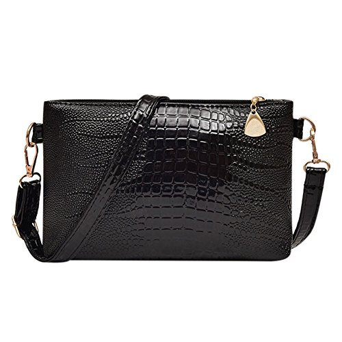 Bag Womens Clutch Handbag Cross Pouch Phone PU Body Leather Luxury Messenger Bag Purse Black Demiawaking Shoulder qUv1dIpw1