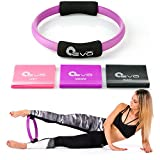 """Yoga EVO 12"""" Pilates Ring and Resistance Bands Set of 3"""