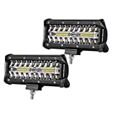 (US) LED Pods, Offroad Town 2pcs 6'' 240W Off road Driving Lights LED Work Light Bar OSRAM Spot Flood COMBO Fog lights Waterproof LED Cubes for Truck Jeep Boat Pick Up UTV ATV Marine, 3 Years Warranty