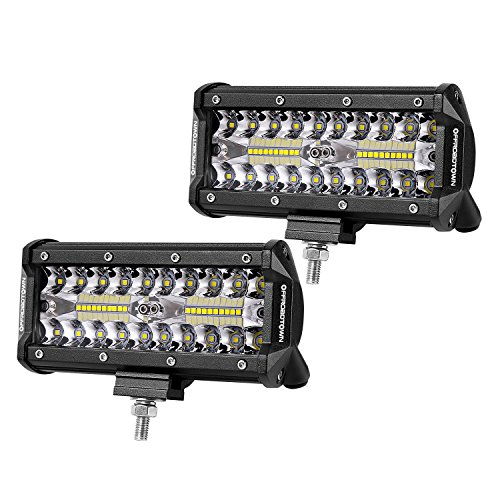 6 Led Car - LED Pods, OFFROADTOWN 2pcs 6'' 240W Off road Driving Lights LED Work Light Bar OSRAM Spot Flood COMBO Fog lights Waterproof LED Cubes for Truck Jeep Boat Pick Up UTV ATV Marine, 3 Years Warranty