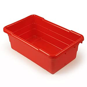 UltraSource Food Approved Bus Totes, Red