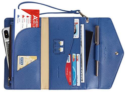 Travelambo Rfid Blocking Passport Holder Wallet & Travel Wallet Envelope Various Colors (CH Blue Deep)